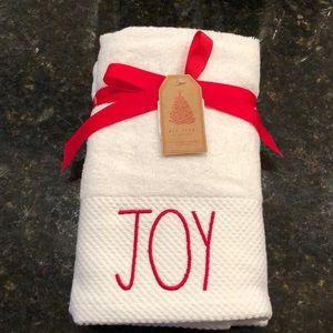 Rae Dunn JOY Hand towels set of 2
